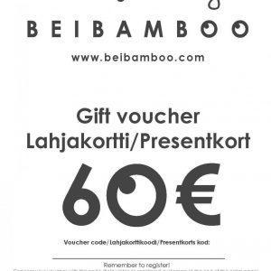 Beibamboo 60 € Gift Voucher